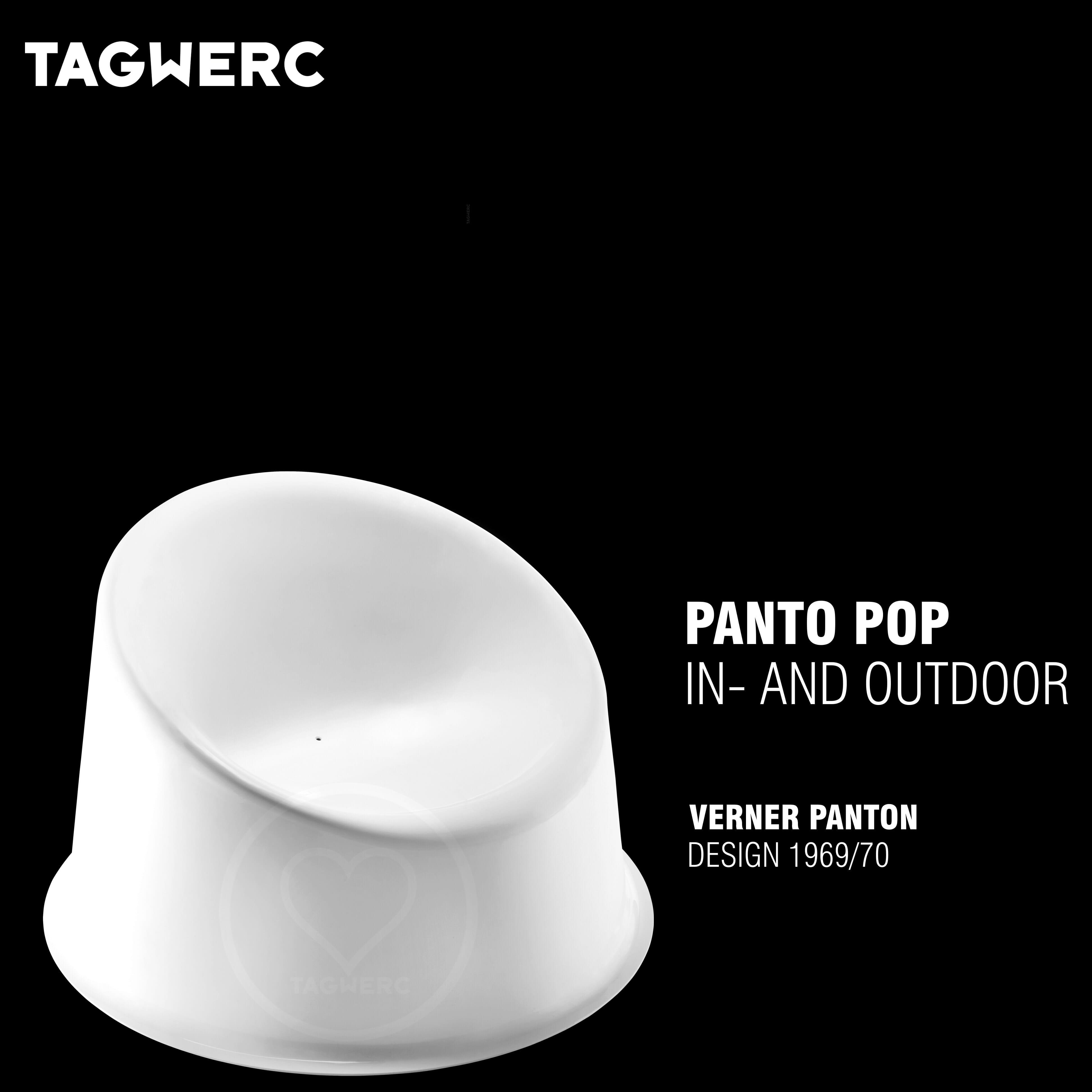 Verpan Panto Pop Red White Chair Indoor Outdoor Verner